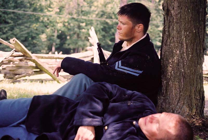Resting After a Shot - David Michael Plowman and Blaine Moore